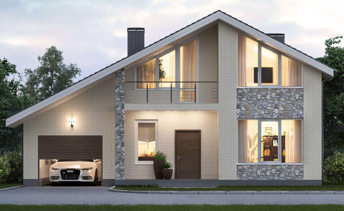 типовой проект дома из газосиликатных блоков