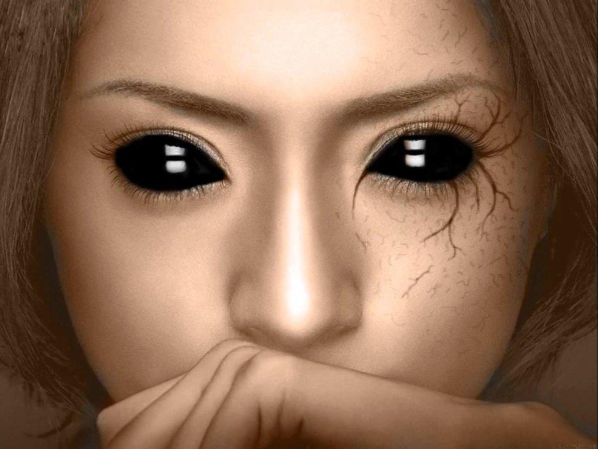 Красивые, картинки черные глаза мураньи