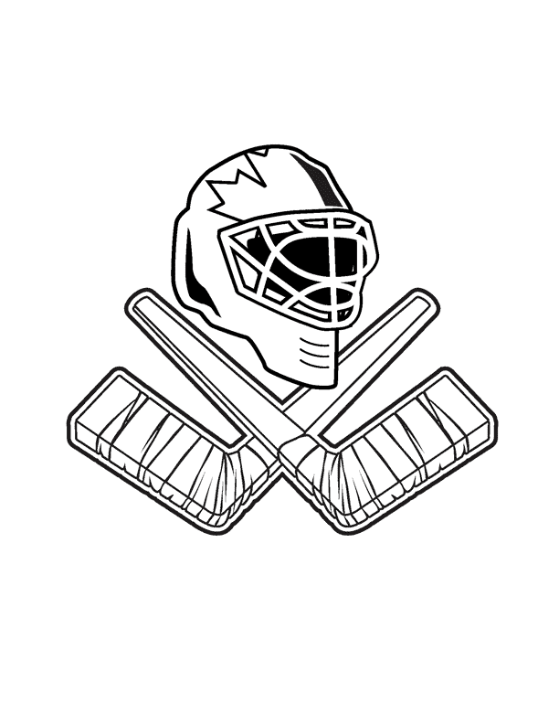 Хоккей вратарь картинки раскраски