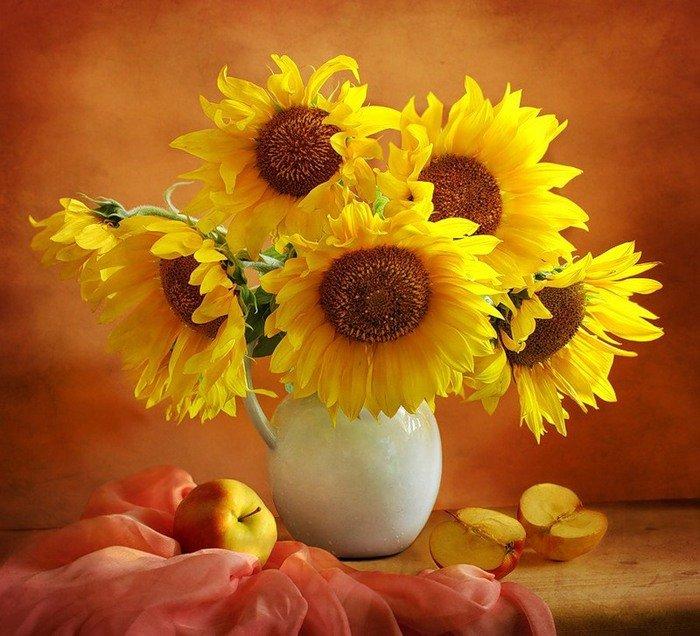 Картинка солнышка в душе, цветами