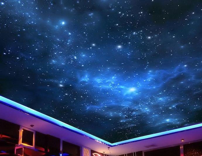 натяжной потолок звездное небо фотографии касается
