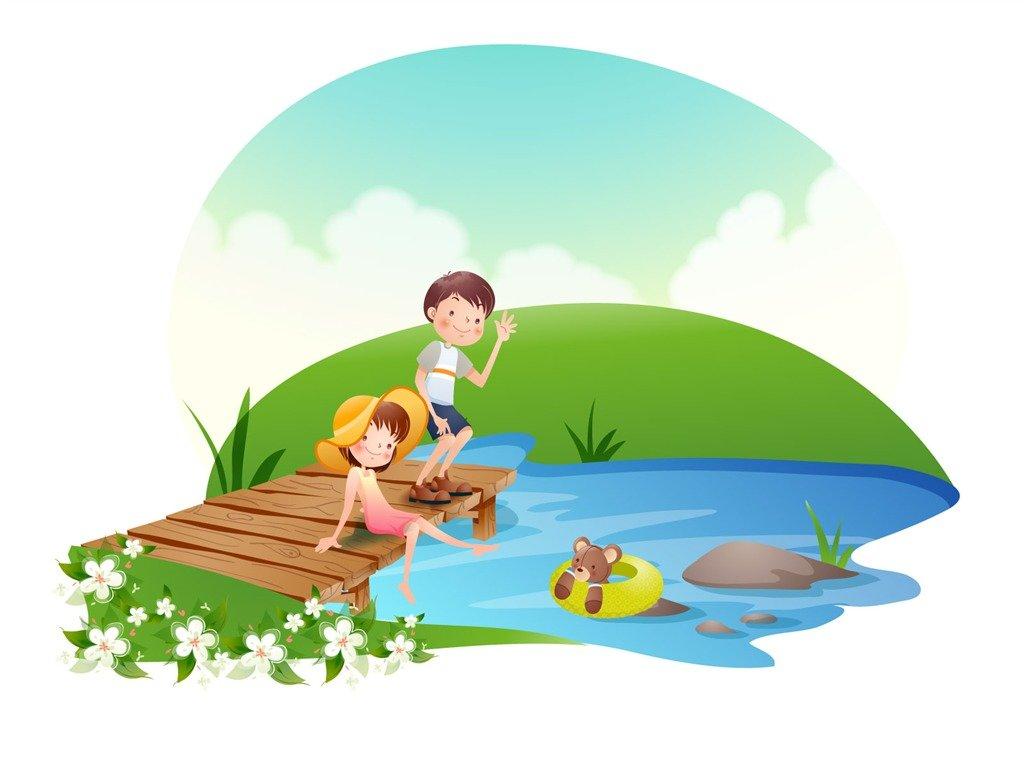 Фразы картинками, картинки летний отдых с детьми