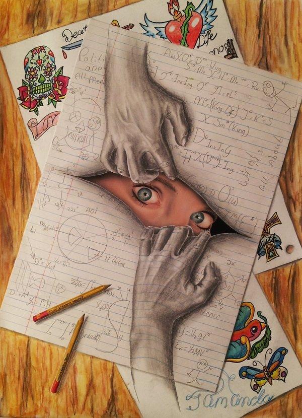 Прикольные картинки своими нарисованные руками, днем рождения женщине