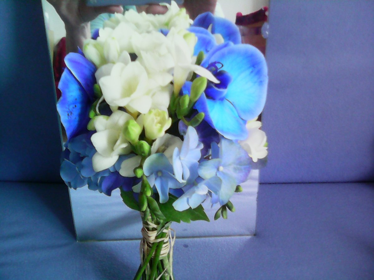 Букеты из синих орхидей спб, узор букетики
