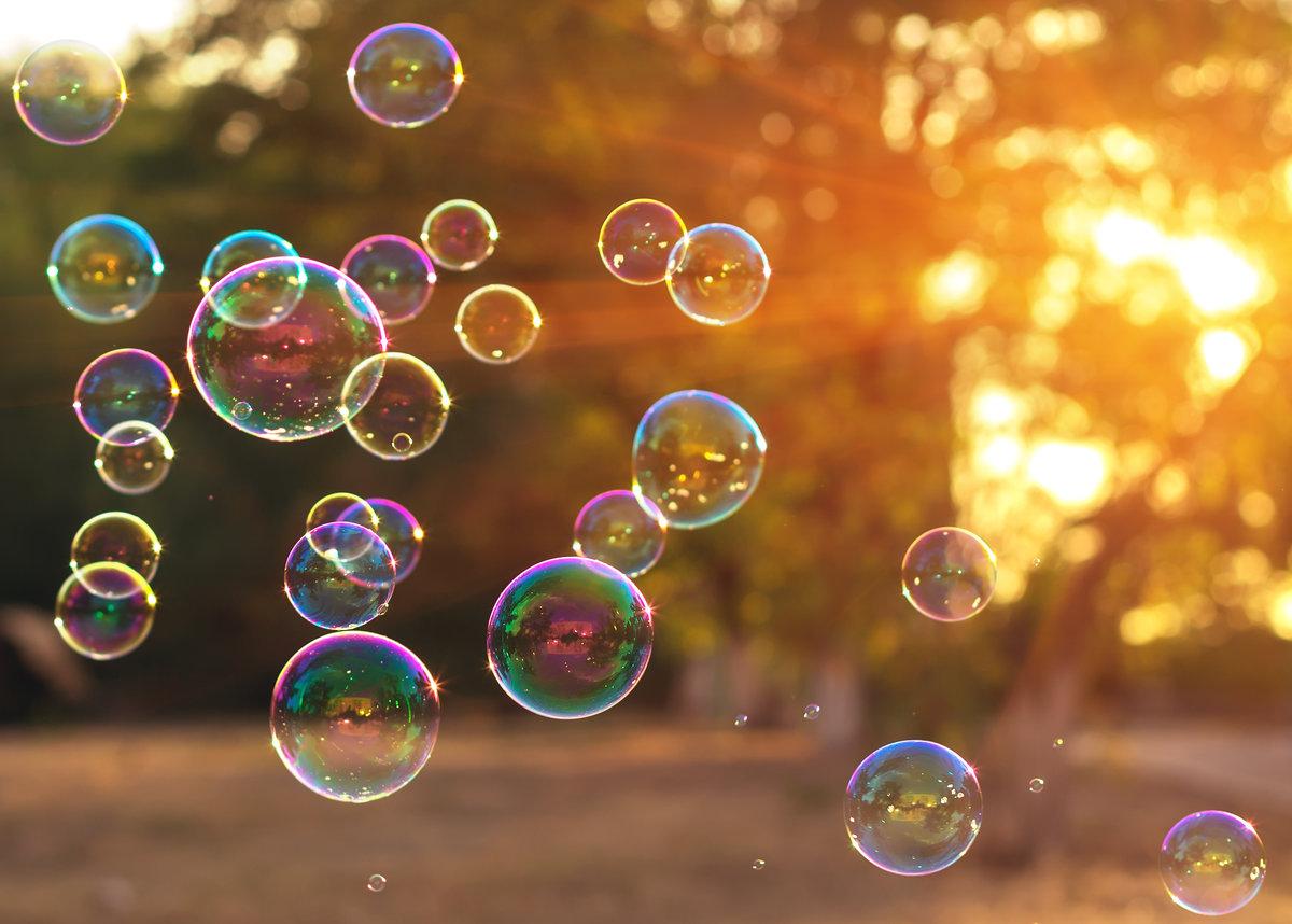 Открытка мыльных пузырей