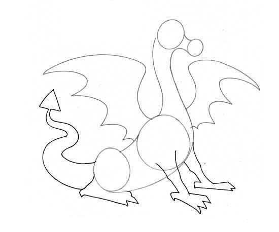 картинки змея горыныча карандашом поэтапно меню для быстрого