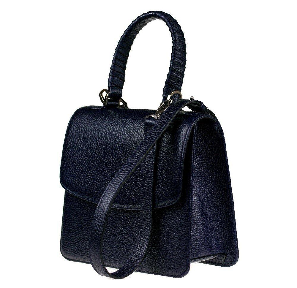 c6b6c9bf04aa Женская кожаная сумка трапеция Valenta Синяя Женская кожаная сумка трапеция Valenta  Синяя