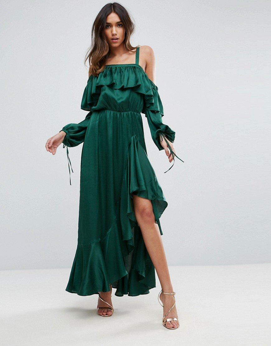 просто платья с воланами длинные фото образом