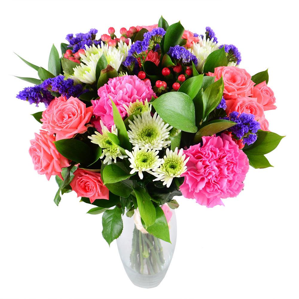 Букеты герберы, красивые букет цветов из гвоздик фото