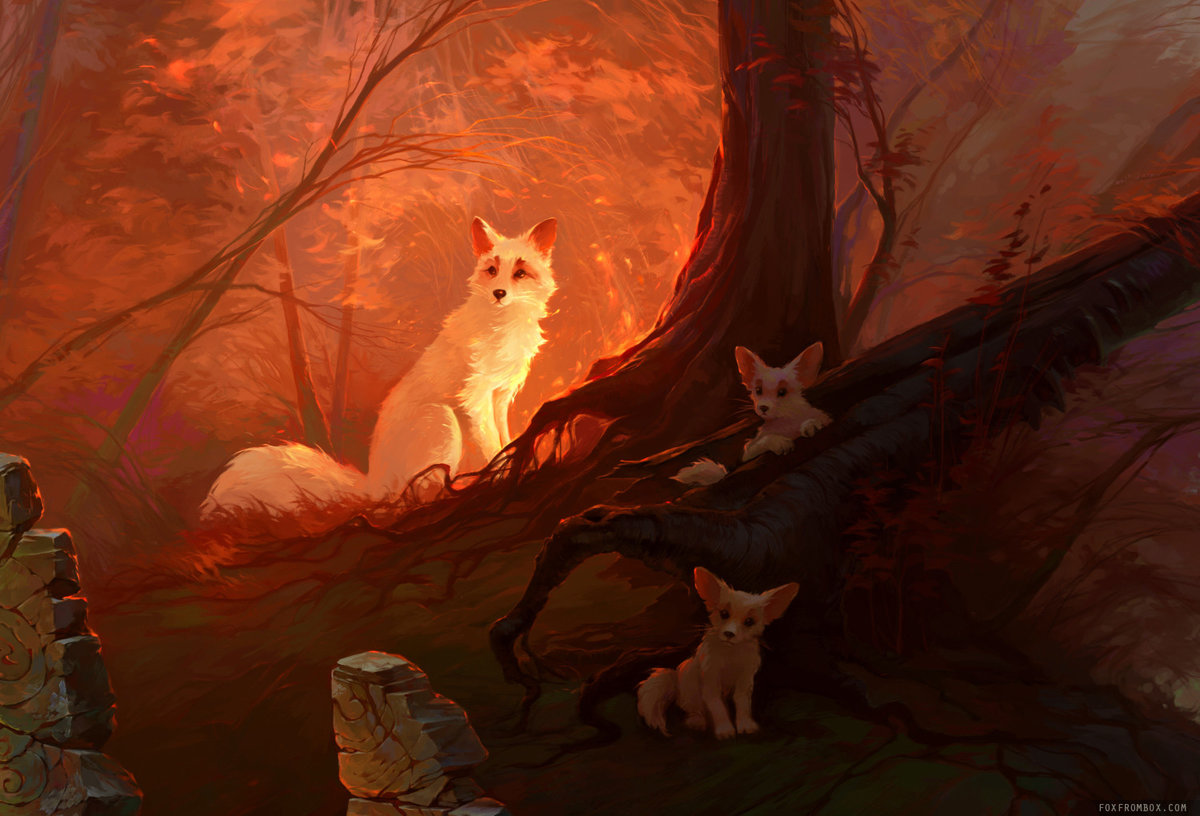 Картинки с мистическими лисами