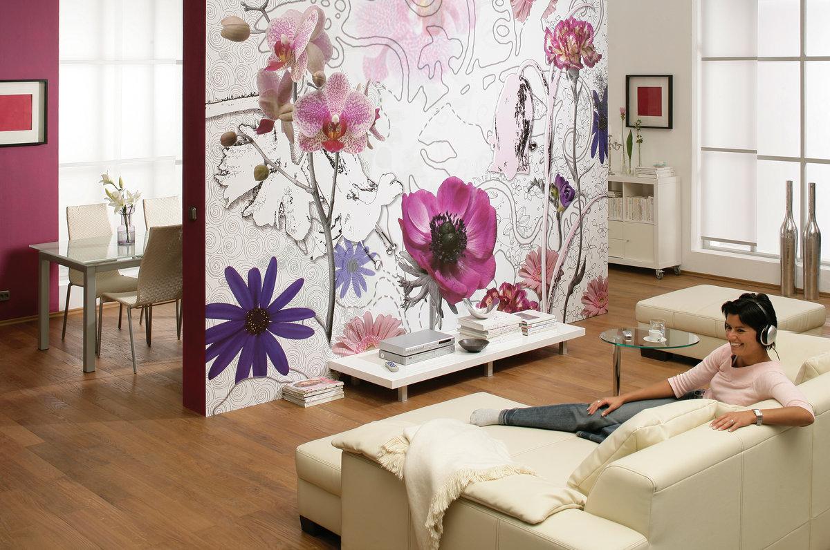 Картинки с цветами на стену, имя вова