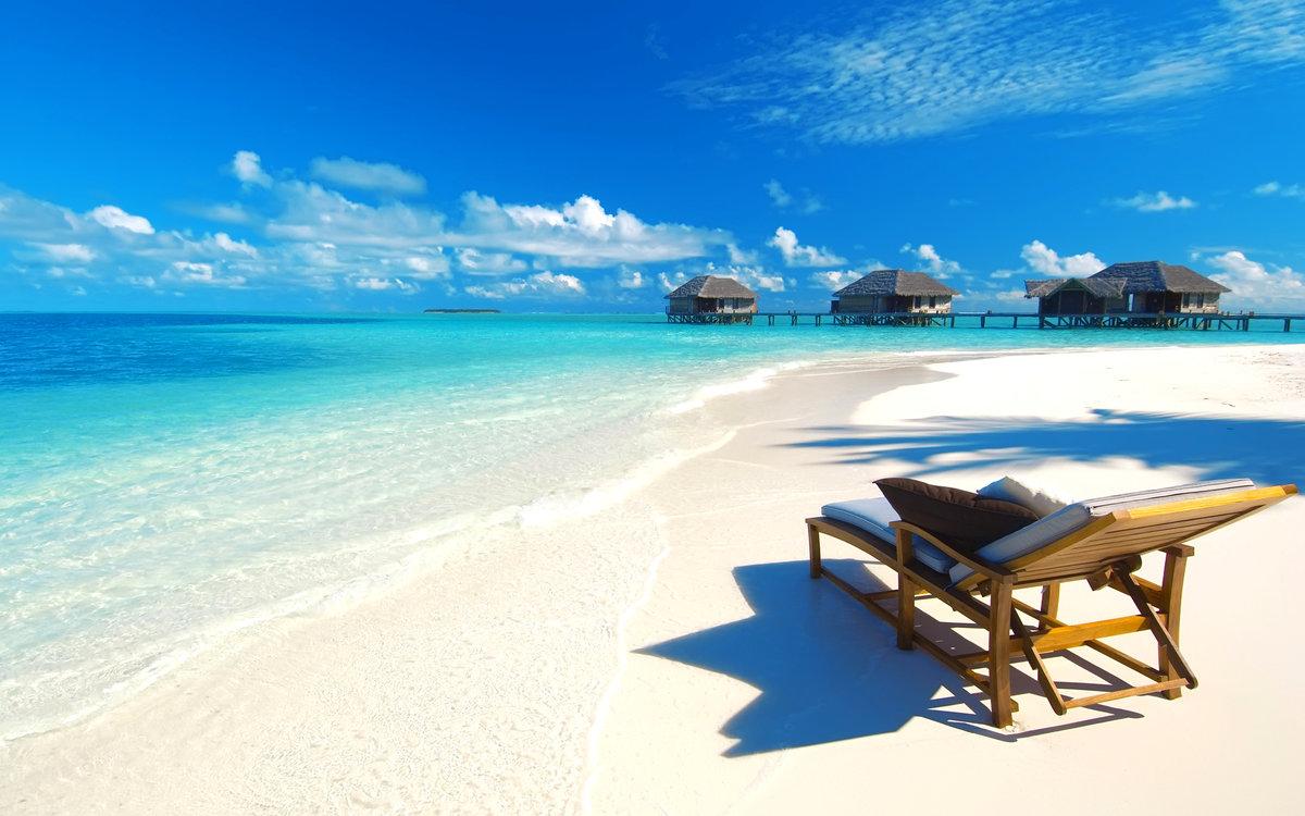 Открытка красивого пляжа, материалами открытки приколом