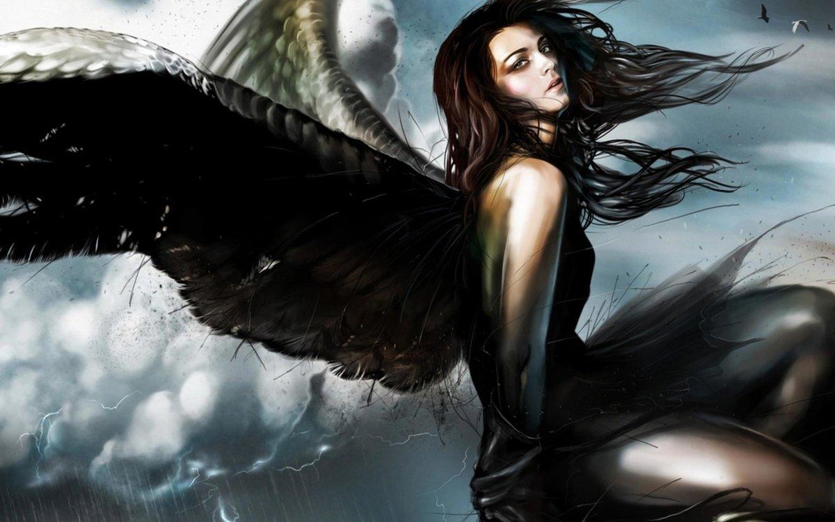 Картинка, картинки с демоном и девушкой