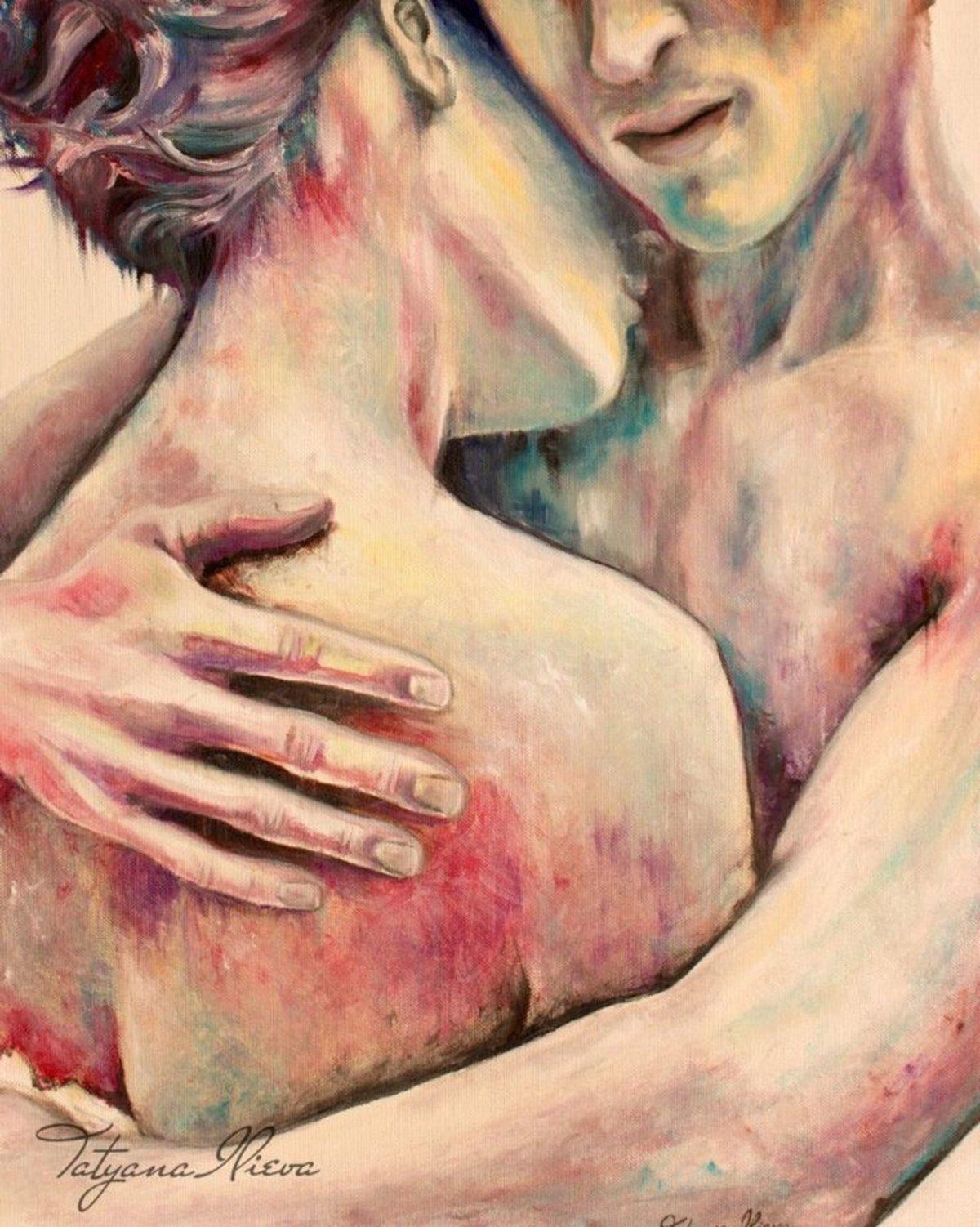 Любовные картинки нарисованные цветные, картинки