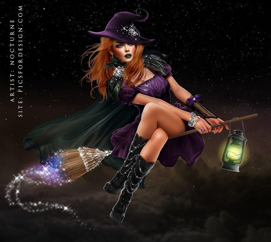 Ведьма на метле картинки красивые, женщине коллеге днем