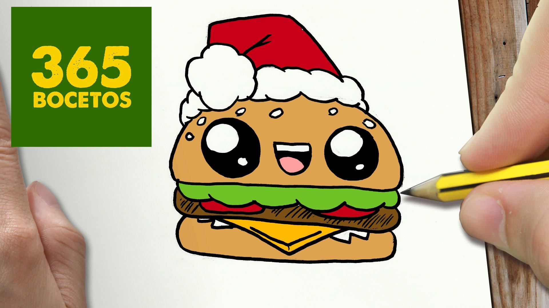 Dibujo Kawaii De Navidad Faciles