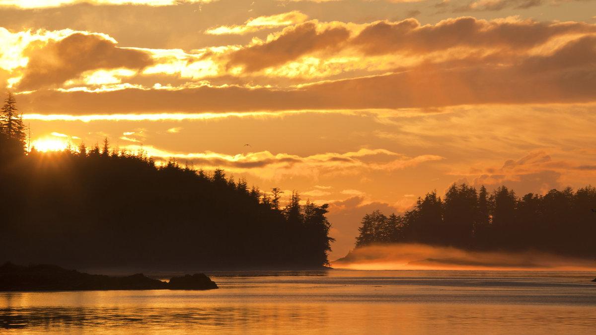 фото красивое природа закат города