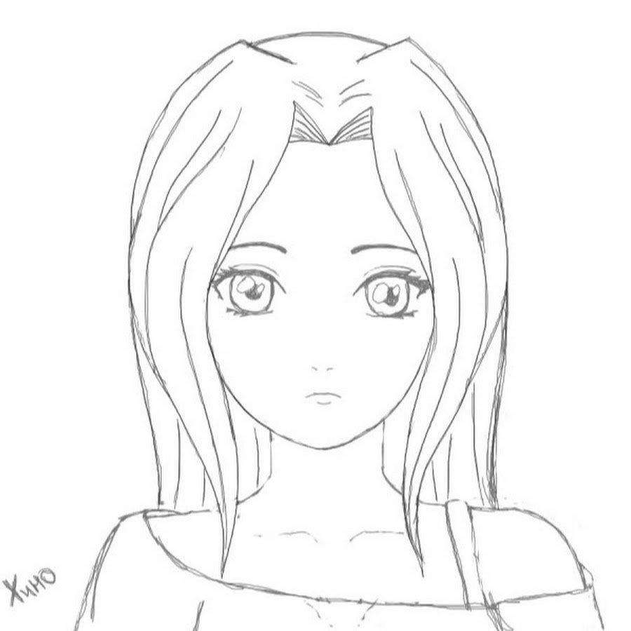 Картинки для срисовки карандашом прикольные для девочек 14 лет легкие аниме