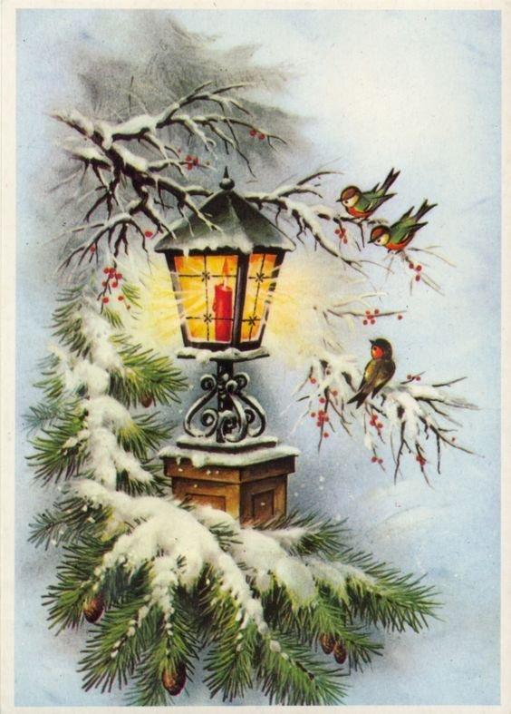 Волшебный новый год картинки для декупажа, открытки