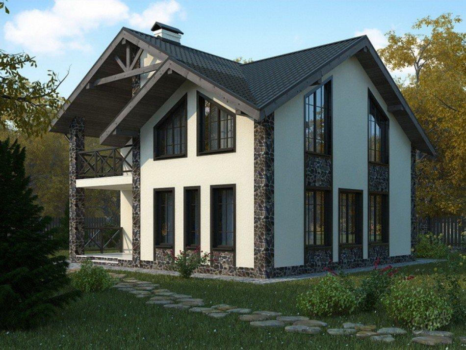 дом из пеноблока проекты