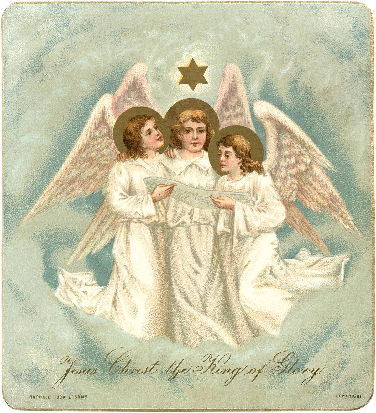 Рождественские картинки с ангелами и христом