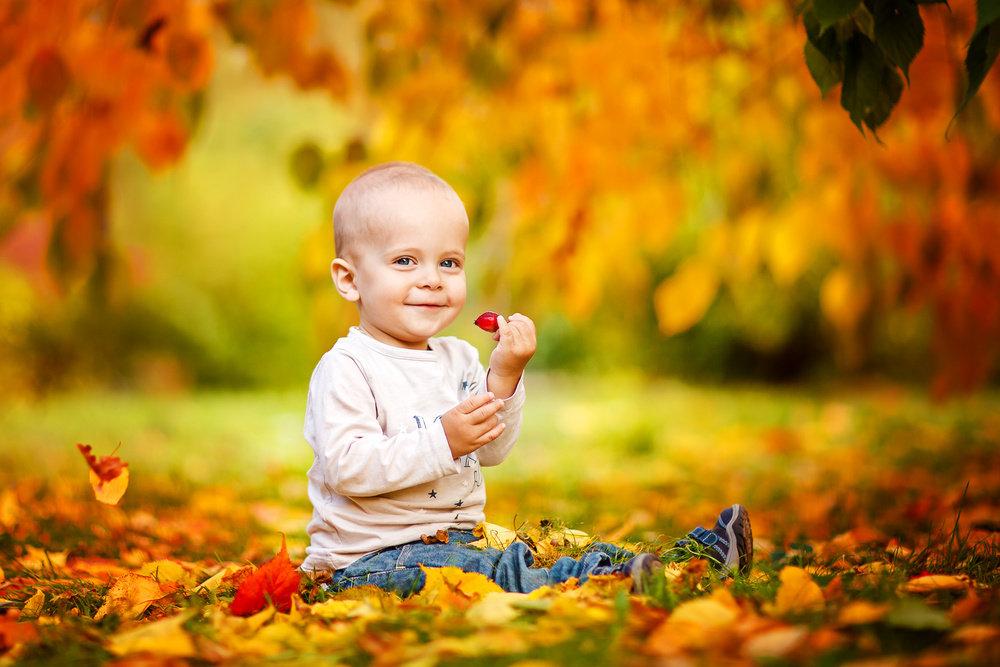 Картинки осень и дети красивые, открытки