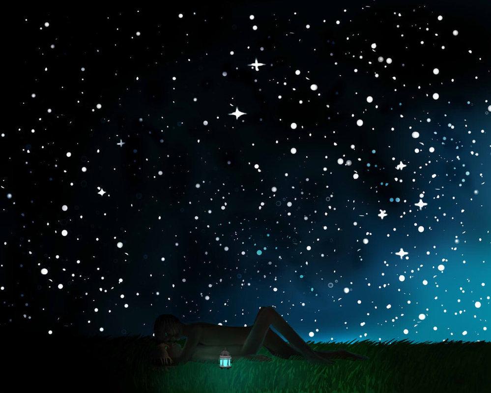 Картинка с изображением ночного неба