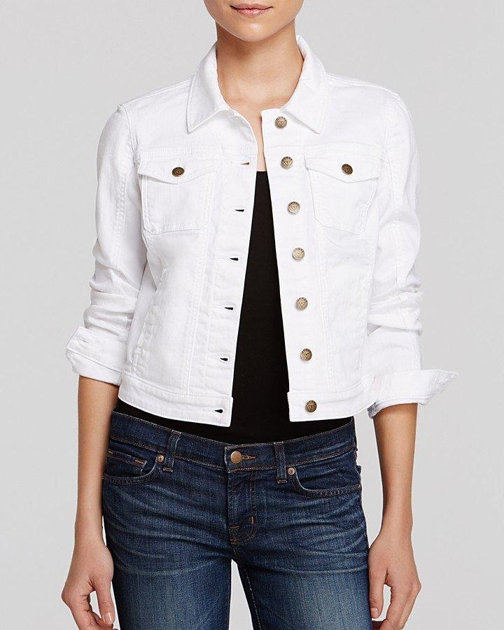 белые джинсовые куртки женские фото средней полосы