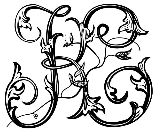 Вензельные шрифты картинки