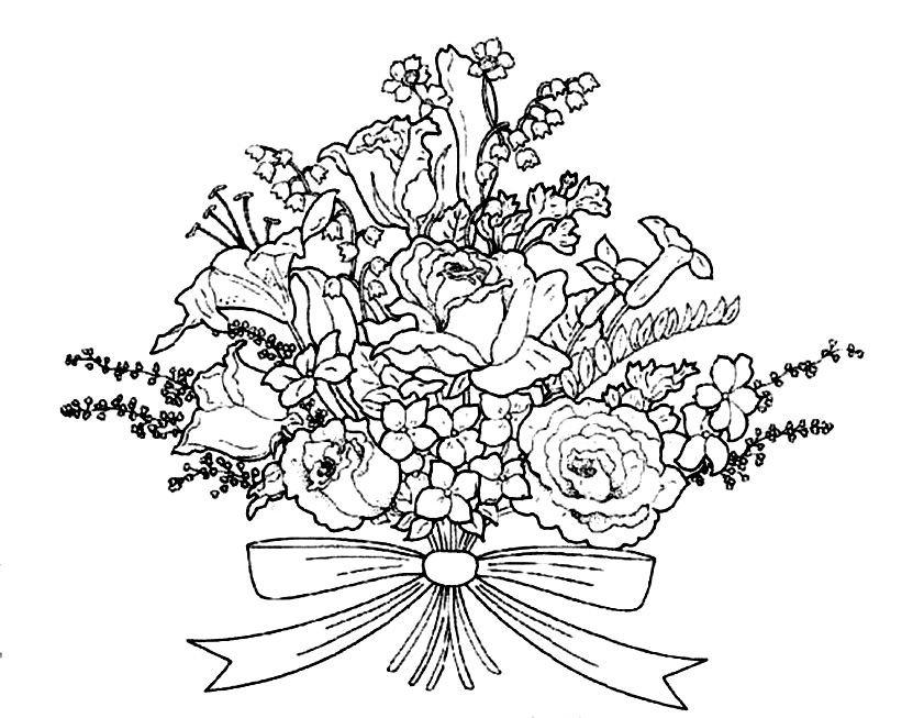 Открытки раскраски с днем рождения цветы распечатать, днем рождения