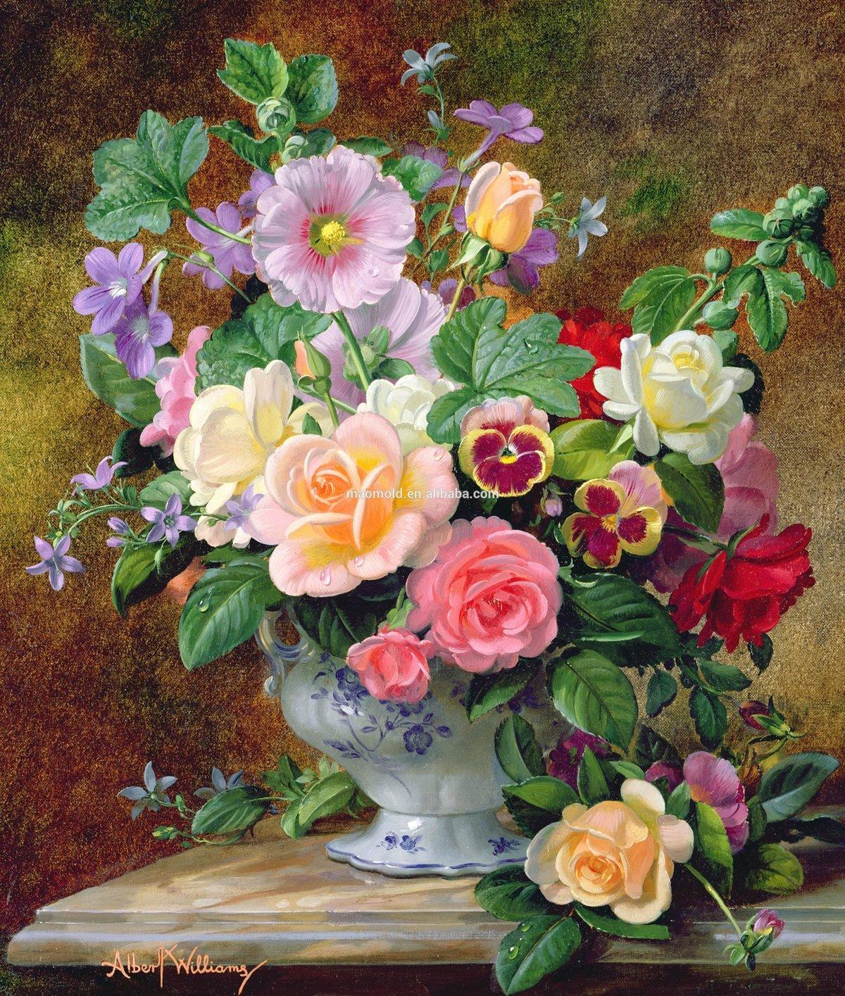 Открытки цветы художники