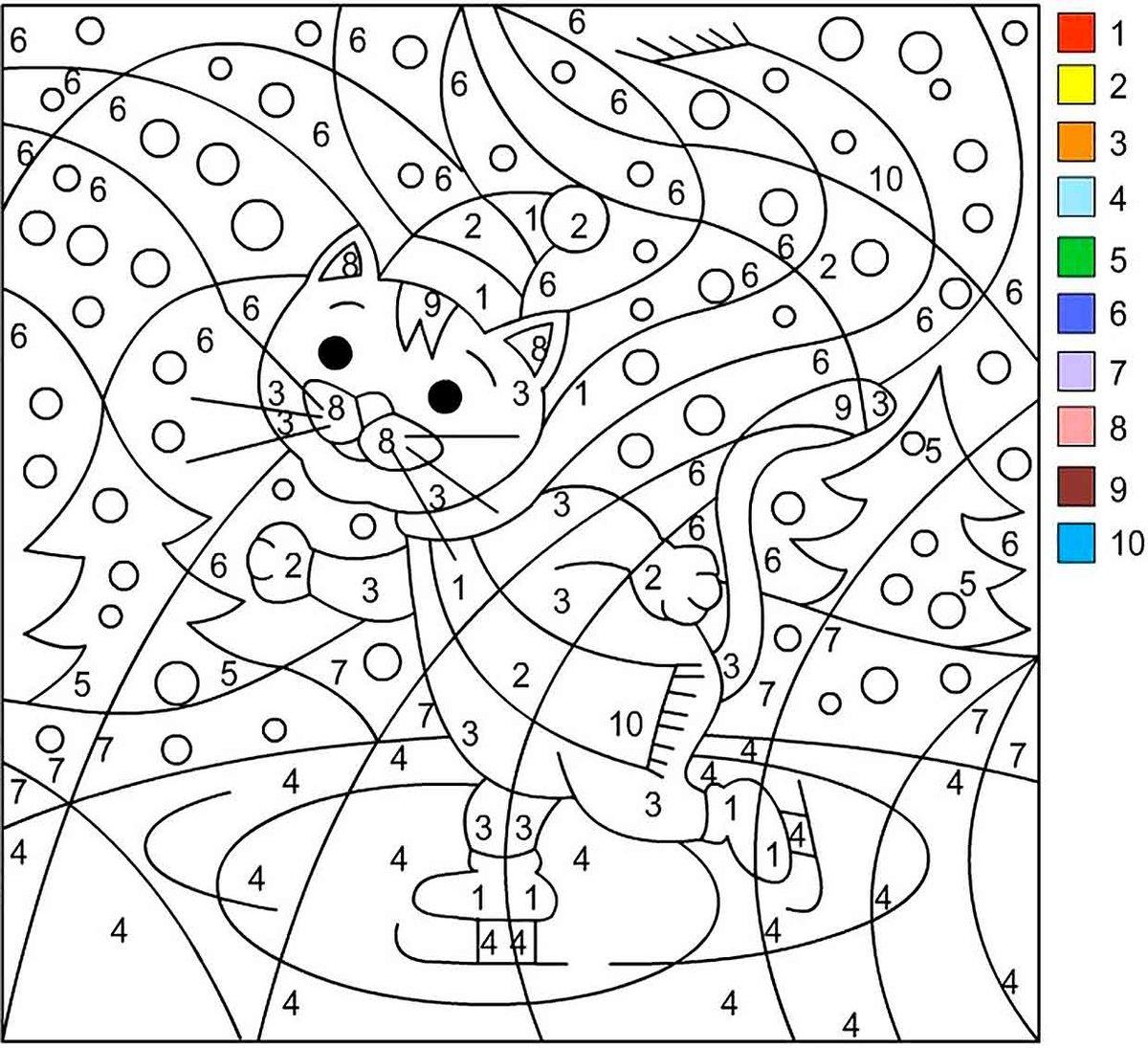 Днем рождения, раскрашивать картинку по цветам