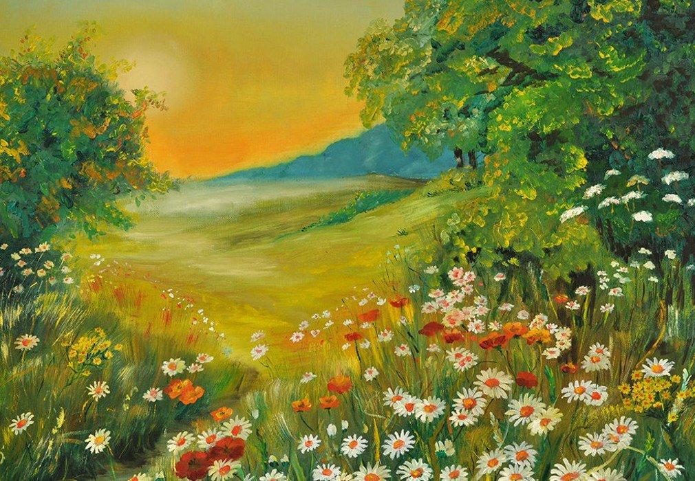 Рабочая неделя, открытки пейзажем утро летом