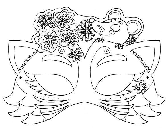 похороны, раскраска девчачьи маски зависимости того, какой