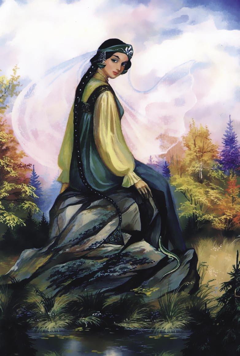 Открытка хозяйка медной горы