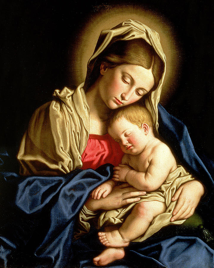Картинки девы марии с младенцем, открытки