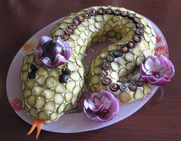 Картинки смешные салат змейка