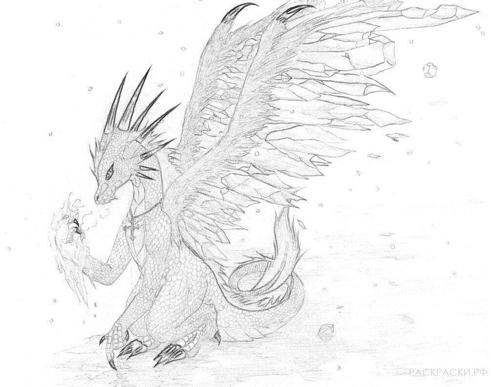 драконы картинки карандашом не сложные новогоднюю