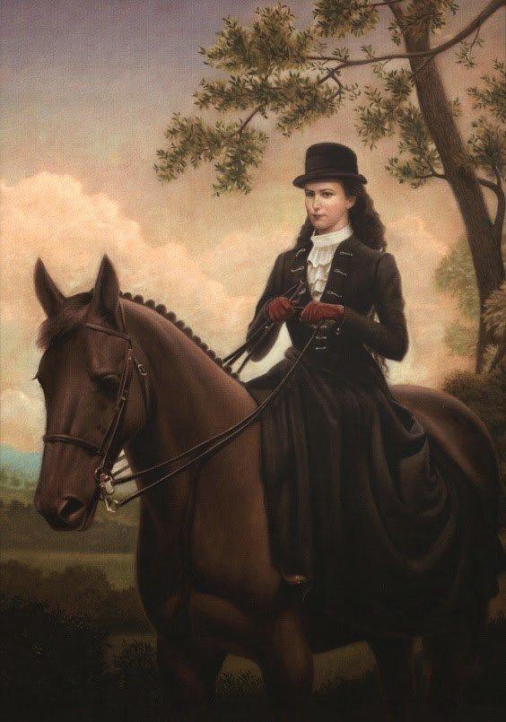 Всадница на коне картинки старинные