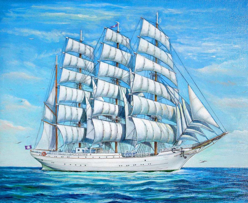Корабль с парусом рисунок утверждают