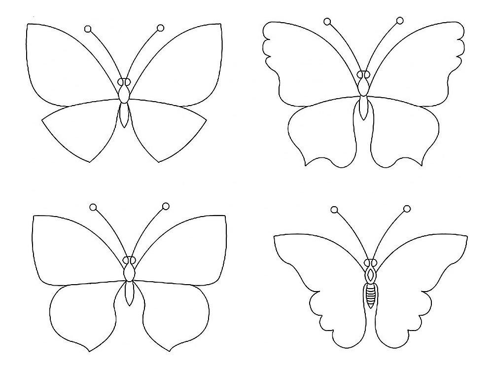 Картинки, шаблон бабочки открытка