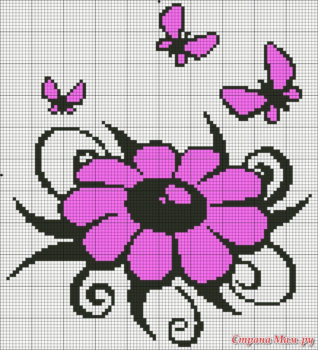 Вышивка крестом картинки для начинающих цветы