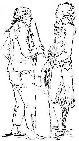 Отец и сын Строгановы. Рис. Воронихина