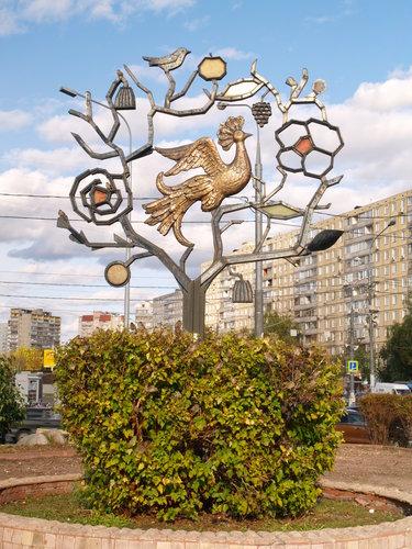 скульптуры металлическое дерево