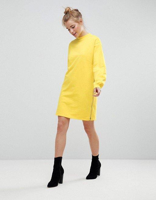 902e5d65f62 Трикотажное платье оверсайз с молниями ASOS Трикотажное платье оверсайз с молниями  ASOS