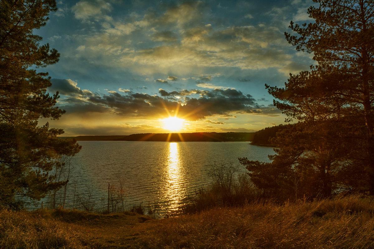 Смотреть картинки озера при закате