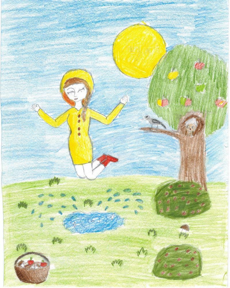 Картинки карандашом детские лето