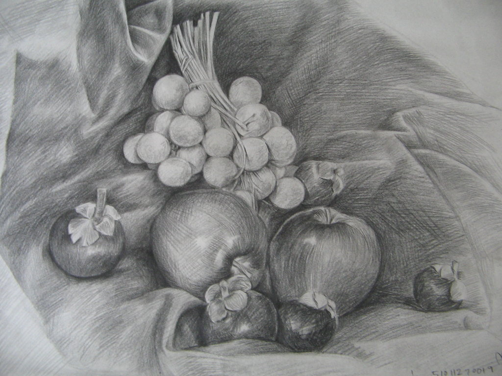 Фото натюрморт простым карандашом