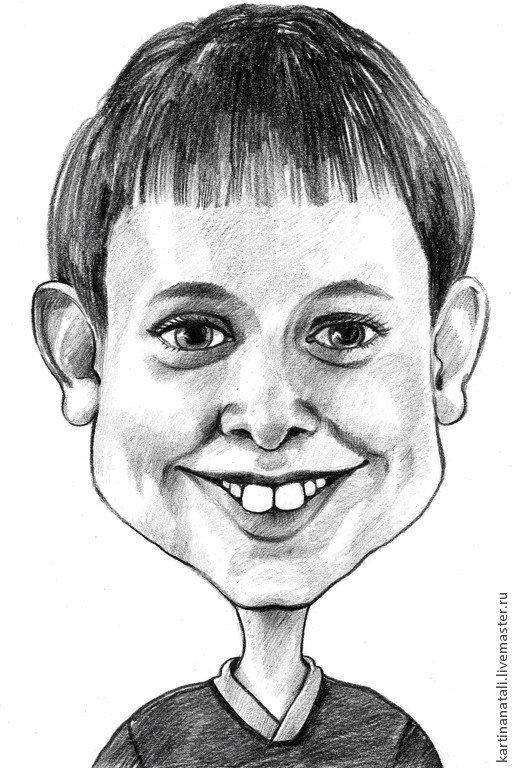 Рисунок карандашом смешной мальчик, прикольные про