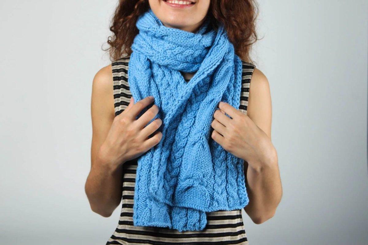 Картинки вязанных шарфиков